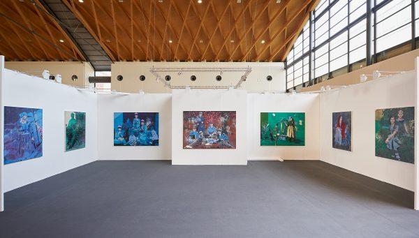 Installation view, Solo presentation Malte Masemann, Art Karlsruhe 2017